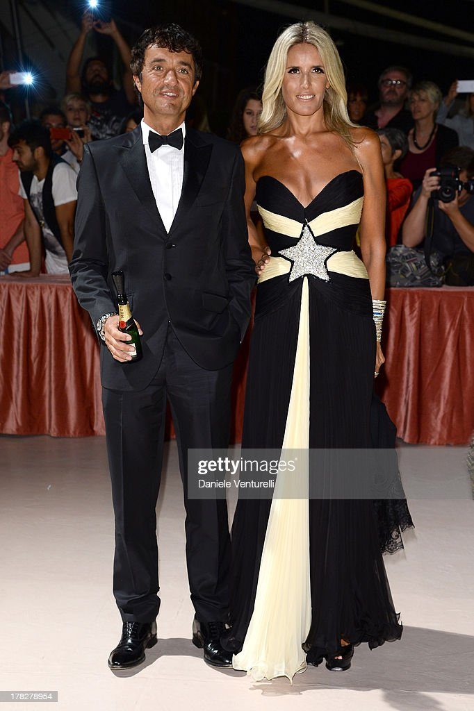 Giulio Base and Tiziana Rocca attend the Opening Ceremony during The 70th Venice International Film Festival on August 28, 2013 in Venice, Italy.