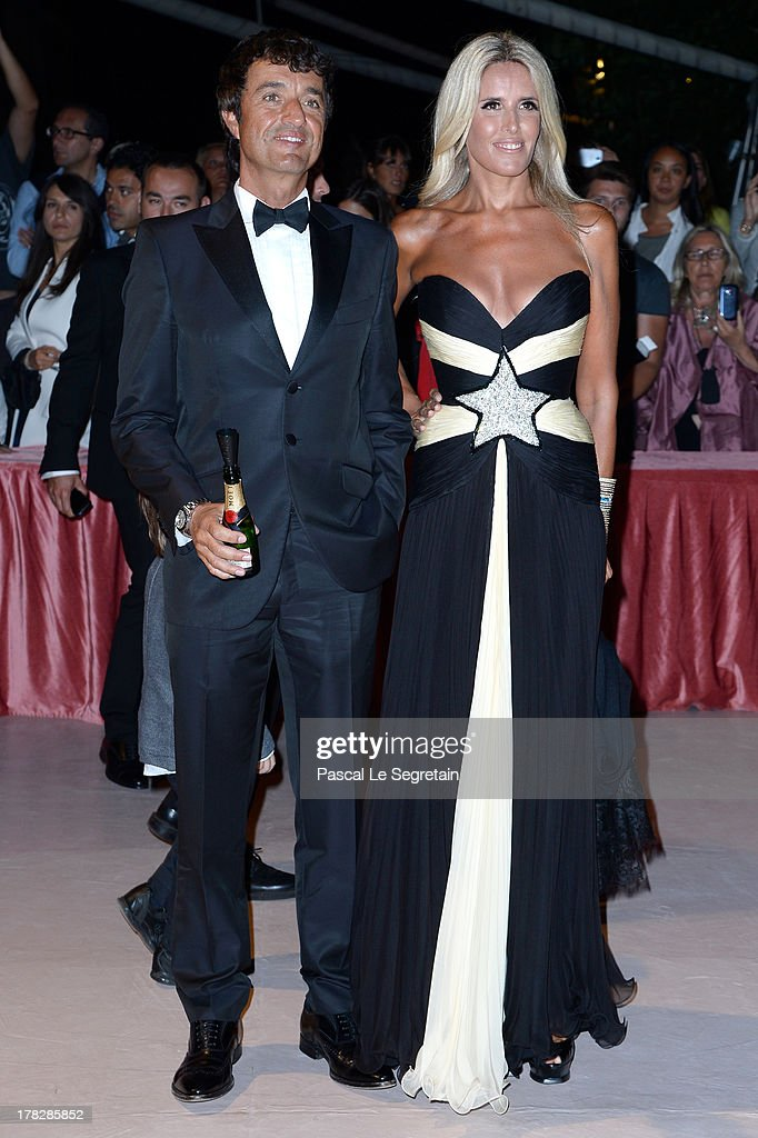 Giulio Base and Tiziana Rocca attend the Opening Dinner Arrivals during the 70th Venice International Film Festival at the Hotel Excelsior on August 28, 2013 in Venice, Italy.