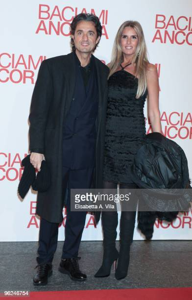 Giulio Base and Tiziana Rocca attend the premiere of 'Baciami Ancora' at Auditorium Conciliazione on January 28 2010 in Rome Italy