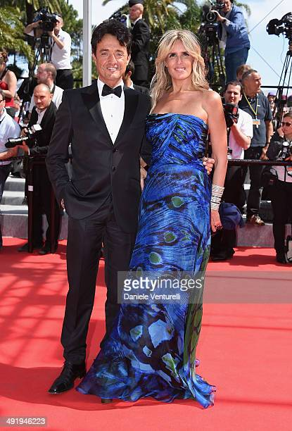 Giulio Base and Tiziana Rocca attend 'The Wonders' Premiere at the 67th Annual Cannes Film Festival on May 18 2014 in Cannes France