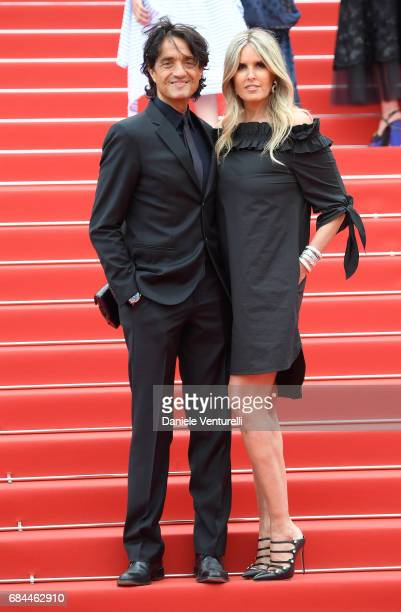 Giulio Base and Tiziana Rocca attend the 'Wonderstruck' screening during the 70th annual Cannes Film Festival at Palais des Festivals on May 18 2017...