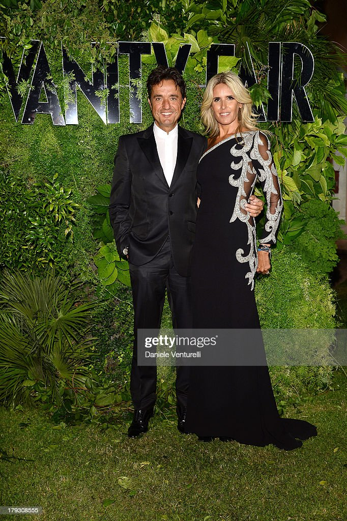 Giulio Base and Tiziana Rocca attend Vanity Fair Celebrate 10th Anniversary during the 70th Venice International Film Festival at Fondazione Giorgio Cini on September 1, 2013 in Venice, Italy.