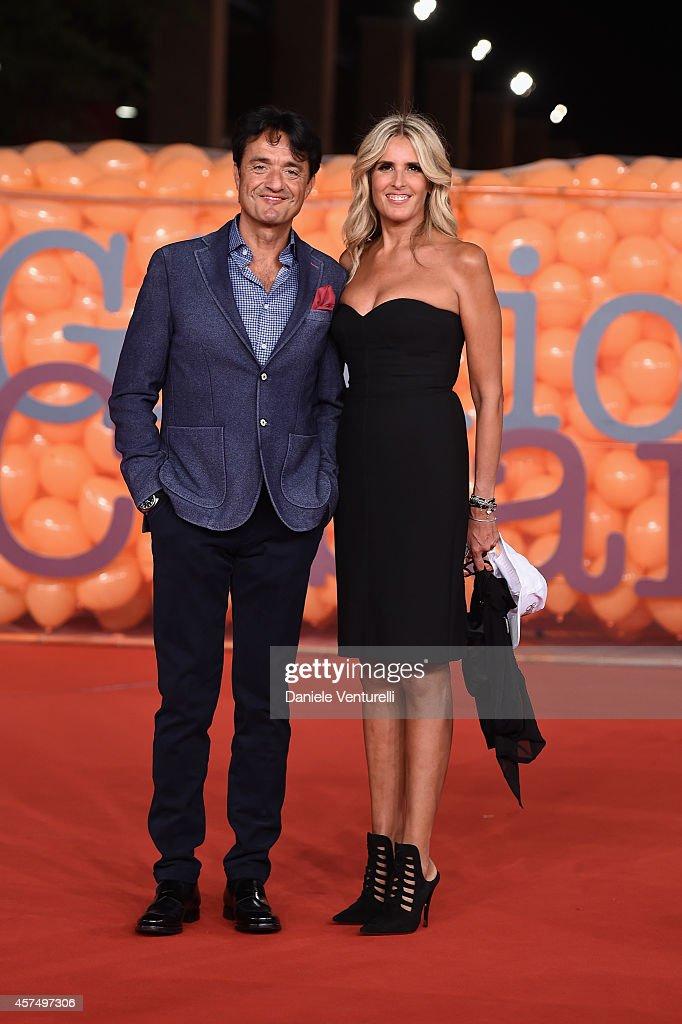 Giulio Base and Tiziana Rocca attends 'Giulio Cesare - Compagni di scuola' Red Carpet during the 9th Rome Film Festival at Auditorium Parco Della Musica on October 19, 2014 in Rome, Italy.