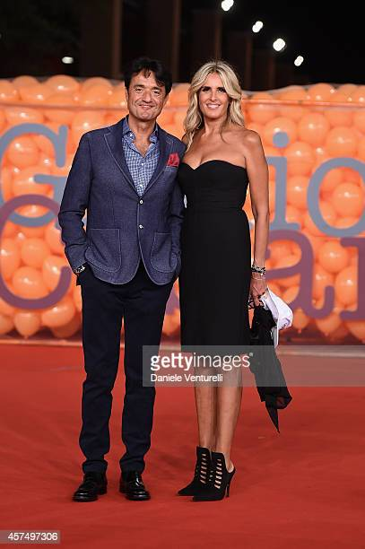 Giulio Base and Tiziana Rocca attends 'Giulio Cesare Compagni di scuola' Red Carpet during the 9th Rome Film Festival at Auditorium Parco Della...