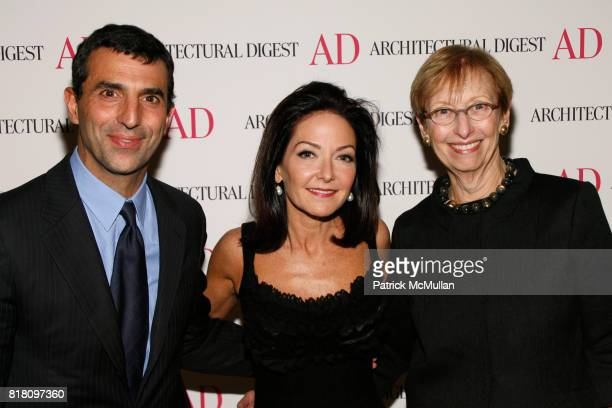 Giulio Capua Margaret Russell and Barbara Sallick attend Conde Nast Welcomes Margaret Russell as Architectural Digest's EditorInChief at Riverpark on...