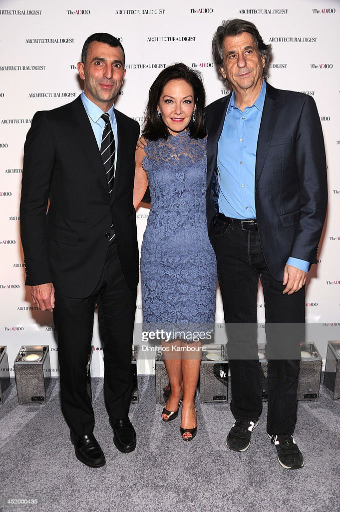 Giulio Capua, VP, Publisher at Architectural Digest, <a gi-track='captionPersonalityLinkClicked' href=/galleries/search?phrase=Margaret+Russell&family=editorial&specificpeople=221550 ng-click='$event.stopPropagation()'>Margaret Russell</a>, Editor In Chief of Architectural Digest and <a gi-track='captionPersonalityLinkClicked' href=/galleries/search?phrase=David+Rockwell&family=editorial&specificpeople=235896 ng-click='$event.stopPropagation()'>David Rockwell</a> attend The AD100 Gala Hosted By Architectural Digest Editor In Chief <a gi-track='captionPersonalityLinkClicked' href=/galleries/search?phrase=Margaret+Russell&family=editorial&specificpeople=221550 ng-click='$event.stopPropagation()'>Margaret Russell</a> at The Four Seasons Restaurant on November 25, 2013 in New York City.