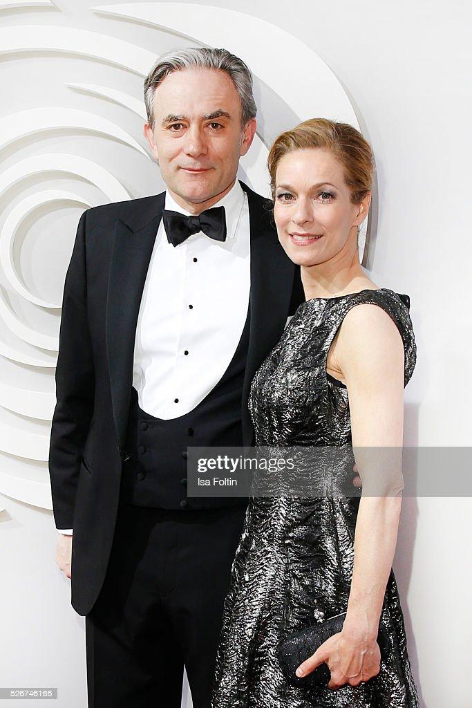 Giulio Ricciarelli and Lisa Martinek attend the Rosenball 2016 on April 30, 2016 in Berlin, Germany.