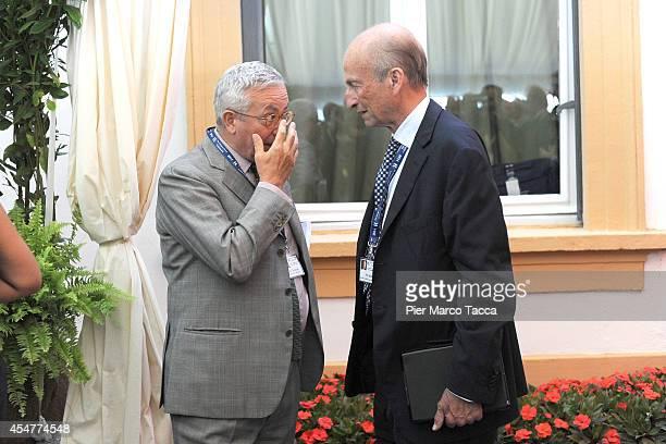Giulio Tremonti and Maurizio Sella attend the Ambrosetti International Economy Forum at Villa d'Este Hotel on September 5 2014 in Como Italy...