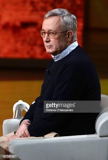 Giulio Tremonti attends 'Che Tempo Che Fa' Italian TV Show on January 22 2012 in Milan Italy
