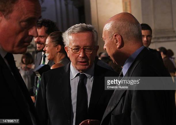 Giulio Tremonti attends the LXVI Premio Strega at Ninfeo Di Villa Giulia on July 5 2012 in Rome Italy