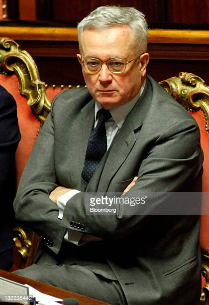 Giulio Tremonti Italy's finance minister attends a vote on debt reduction measures in the Senate in Rome Italy on Friday Nov 11 2011 Italy's Senate...