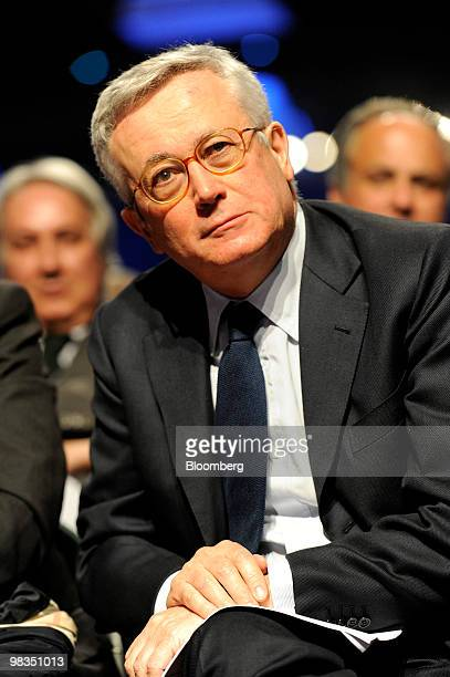 Giulio Tremonti Italy's finance minister listens during a Confindustria meeting in Parma Italy on Friday April 9 2010 Confindustria is Italy's...