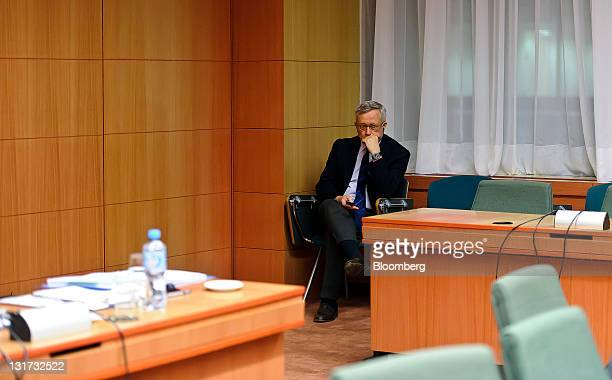 Giulio Tremonti Italy's finance minister waits for the start of the Eurogroup finance ministers meeting at the European Council headquarters in...