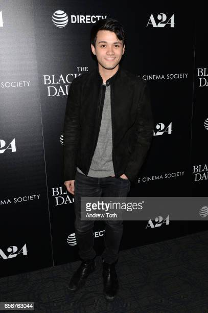 Giullian Yao Gioiello attends a screening of 'The Blackcoat's Daughter' hosted by A24 and DirecTV with The Cinema Society at Landmark Sunshine Cinema...