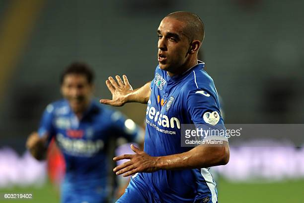 Giuseppe Bellusci of Empoli FC celebrates after scoring a goal during the Serie A match between Empoli FC and FC Crotone at Stadio Carlo Castellani...