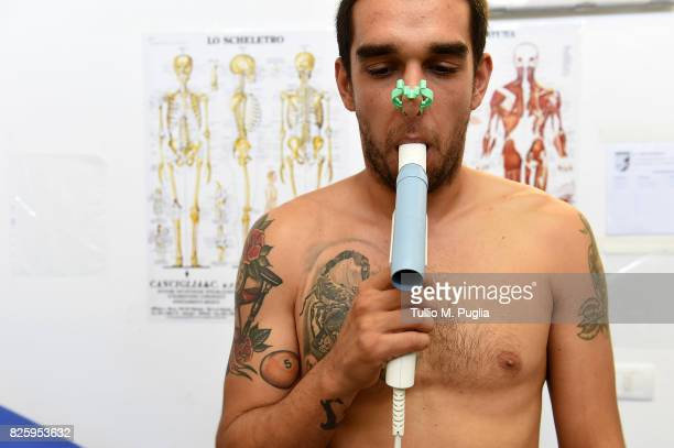 Giuseppe Bellusci of US Citta' di Palermo looks on during medical tests on August 1 2017 in Palermo Italy