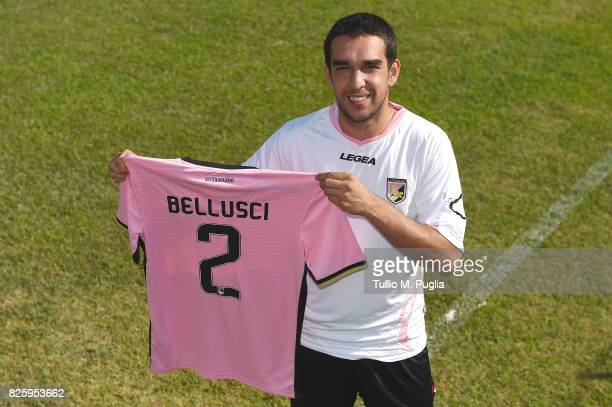 Giuseppe Bellusci of US Citta' di Palermo poses with club shirt on August 1 2017 in Palermo Italy