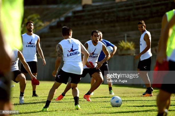 Giuseppe Bellusci takes part in a training session after his presentation as new player of US Citta' di Palermo at Carmelo Onorato training session...