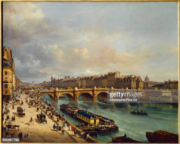 Giuseppe Canella The Ile de la Cite and the Pont Neuf seen from the Quai du Louvre 1832 Oil on canvas 104 x 130 m Paris Carnavalet Museum