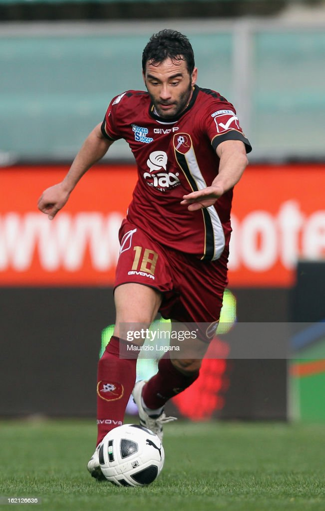 Giuseppe Colucci of Reggina during the Serie B match between Reggina Calcio and Calcio Padova on February 16, 2013 in Reggio Calabria, Italy.