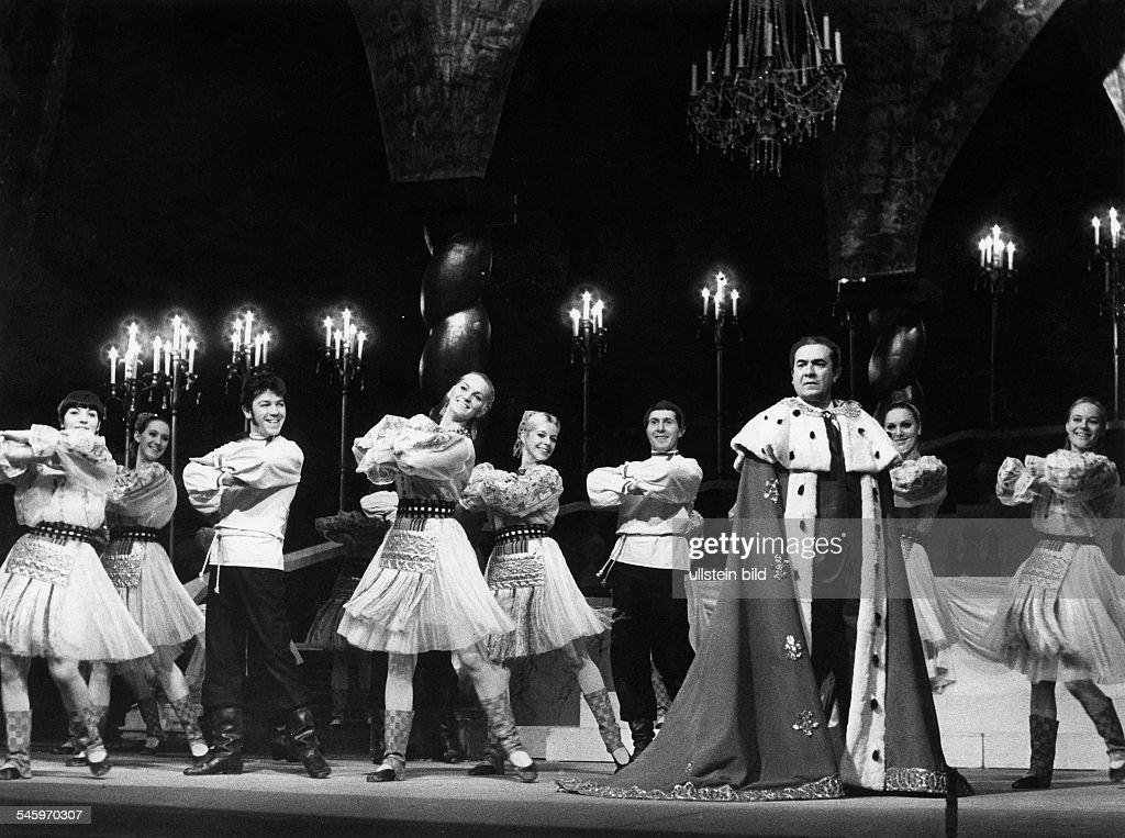 Giuseppe di Stefano*Saenger Opernsaenger Tenor ItalienRollenportrait als Zarewitsch Arbeitsprobe 'Der Zarewitsch' im Theater des Westens in Berlin