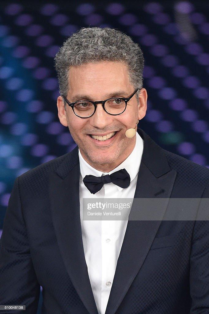 Giuseppe Fiorello attends the closing night of 66th Festival di Sanremo 2016 at Teatro Ariston on February 13, 2016 in Sanremo, Italy.