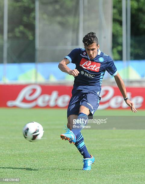 Giuseppe Formito of Napoli in action during the preseason friendly match between SSC Napoli and US Grosseto on July 23 2012 in Dimaro near Trento...