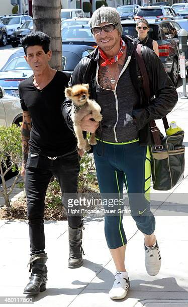 Giuseppe Franco and Mickey Rourke seen on July 09 2015 in Los Angeles California