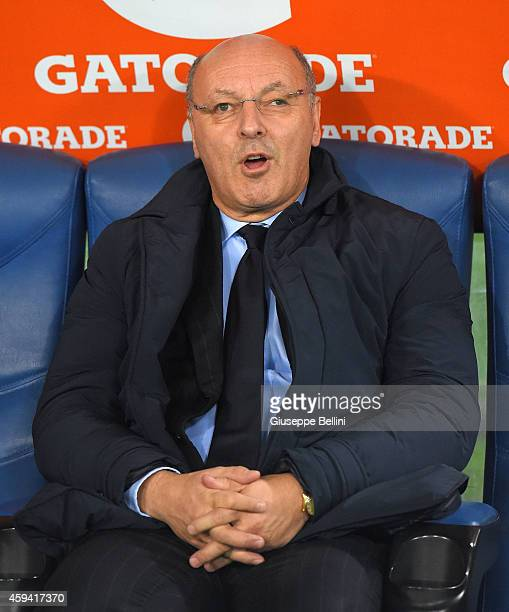 Giuseppe Marotta AD of Juventus FC before the Serie A match between SS Lazio and Juventus FC at Stadio Olimpico on November 22 2014 in Rome Italy