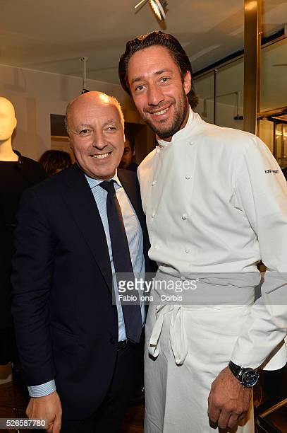 Giuseppe Marotta and Luigi Taglienti attend the Trussardi Boutique on September 26 2013 in Turin Italy