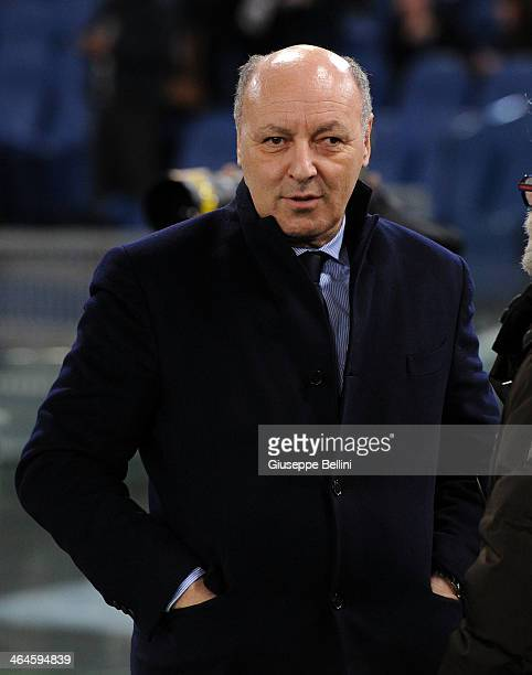 Giuseppe Marotta director general for sports and CEO of Juventus before the TIM Cup match between AS Roma and Juventus FC at Olimpico Stadium on...
