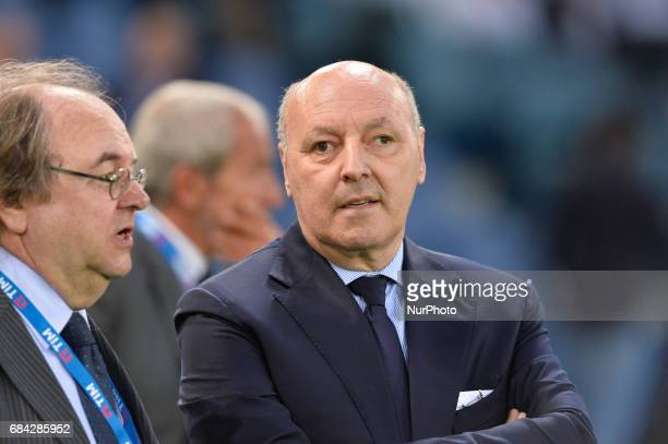 Giuseppe Marotta during the Tim Cup football match FC Juventus vs SS Lazio at the Olympic Stadium in Rome on may 17 2017