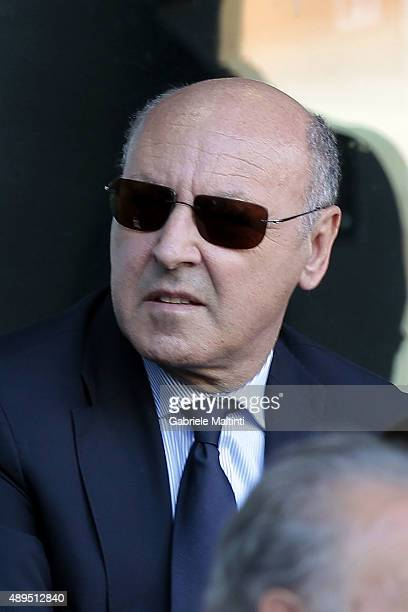 Giuseppe Marotta general director of Juventus FC during the Serie A match between Genoa CFC and Juventus FC at Stadio Luigi Ferraris on September 20...