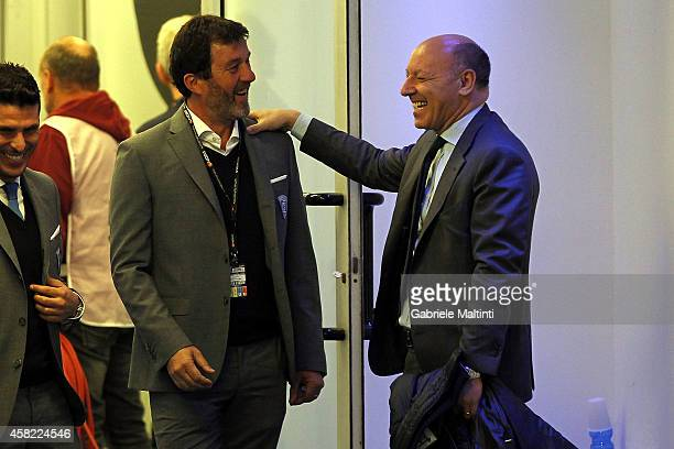 Giuseppe Marotta general manager of Juventus FC and Marcello Carli genral manager of Empoli FC during the Serie A match between Empoli FC and...