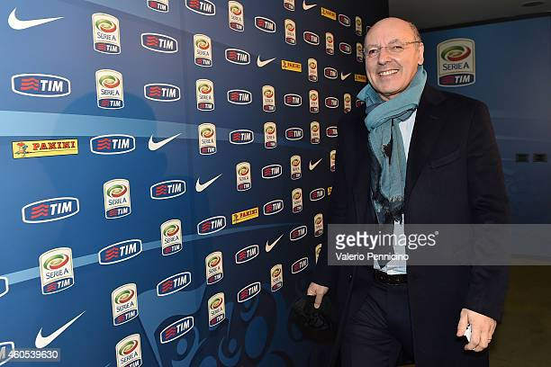 Giuseppe Marotta general manager of Juventus FC attends a meeting of Serie A coaches on December 16 2014 in Milan Italy