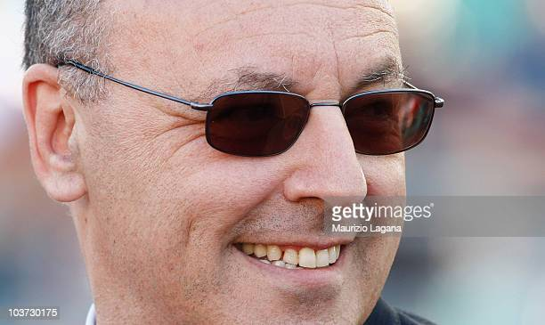 Giuseppe Marotta sporting director of Juventus FC before the Serie A match between Bari and Juventus at Stadio San Nicola on August 29 2010 in Bari...