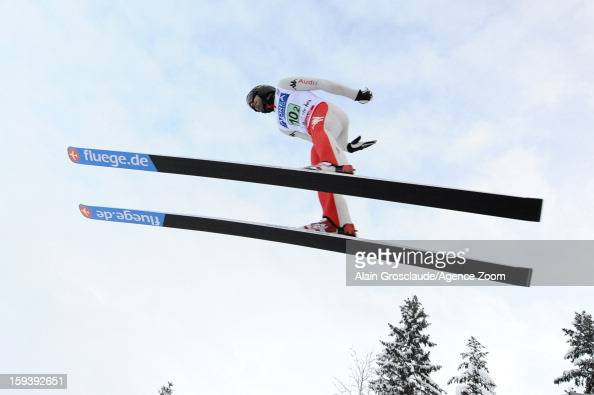 Giuseppe Michielli of Italy competes during the FIS Nordic Combined World Cup Team Sprint on January 13 2013 in ChauxNeuve France