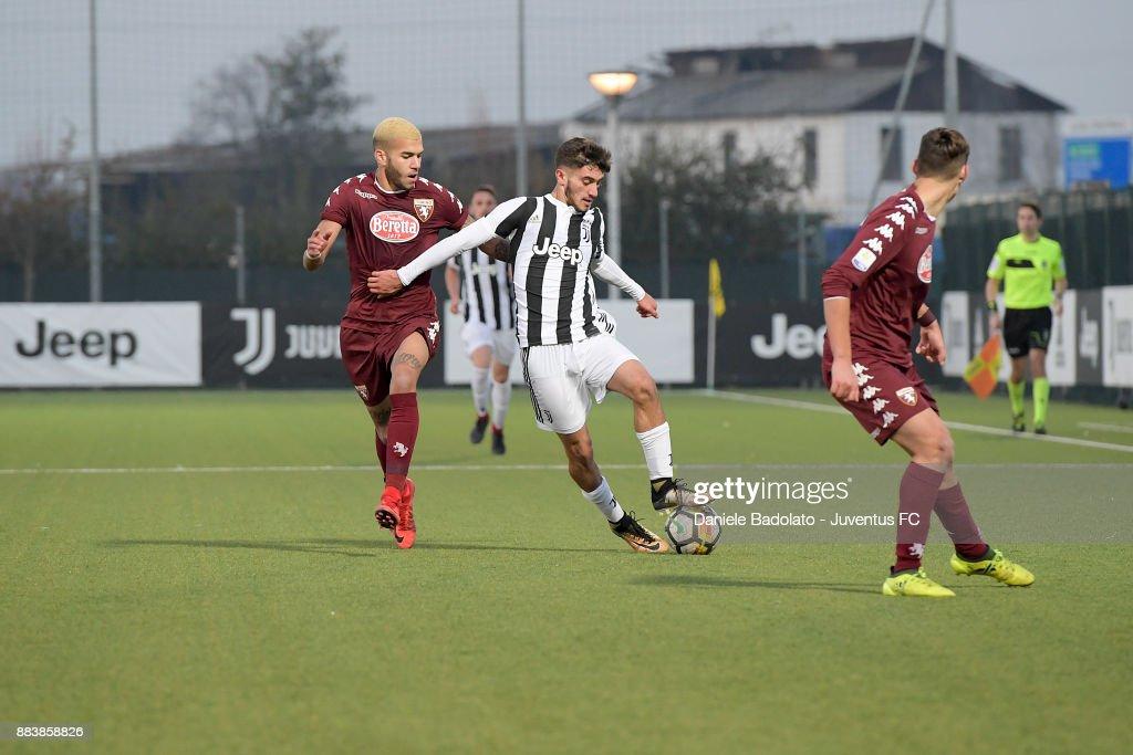 Giuseppe Montaperto during the TIM Cup Primavera match between Juventus U19 and Torino FC U19 at Juventus Center Vinovo on November 29, 2017 in Vinovo, Italy.