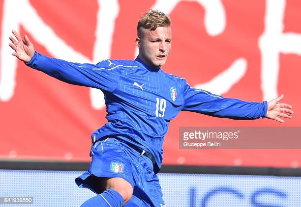 Giuseppe Panico of Italy U20 in action during the friendly match between Italy U20 and B Italia at Stadio Renato Curi on February 14 2017 in Perugia...
