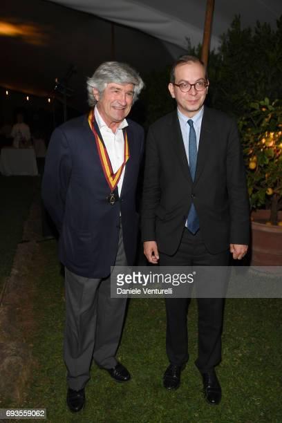 Giuseppe Penone and Laurent Le Bon attend McKim Medal Gala at Villa Aurelia on June 7 2017 in Rome Italy