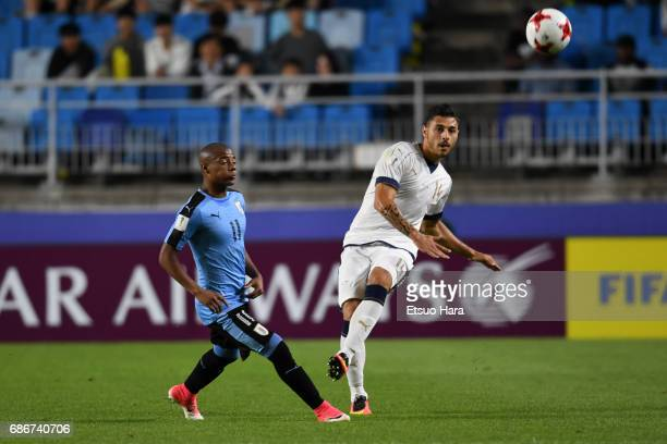 Giuseppe Pezzella of Italy in action during the FIFA U20 World Cup Korea Republic 2017 group D match between Italy and Uruguay at Suwon World Cup...