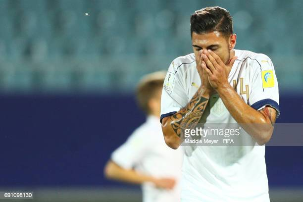 Giuseppe Pezzella of Italy reacts after JeanKevin Augustin of France scored a goal during the FIFA U20 World Cup Korea Republic 2017 Round of 16...