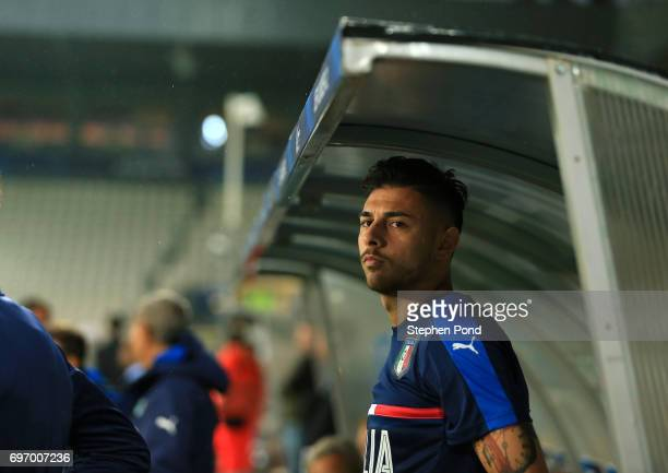 Giuseppe Pezzella of Italy takes part during an Italy U21 Training Session at Stadium Krakow on June 17 2017 in Krakow Poland Photo by Stephen...