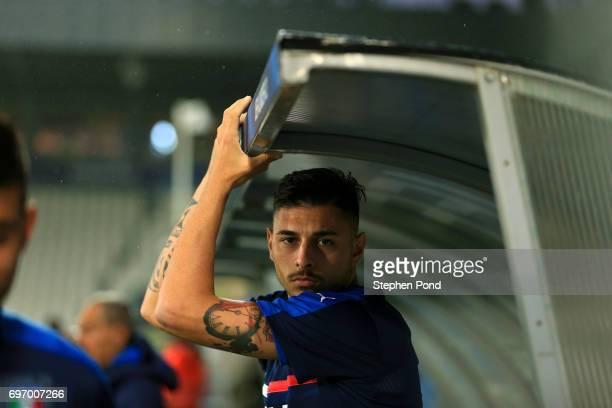Giuseppe Pezzella of Italy takes part during an Italy U21 Training Session at Stadium Krakow on June 17 2017 in Krakow Poland