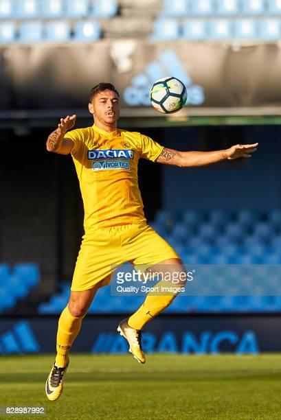Giuseppe Pezzella of Udinese Calcio in action during the Pre Season Friendly match between Celta de Vigo and Udinese Calcio at Balaidos Stadium on...