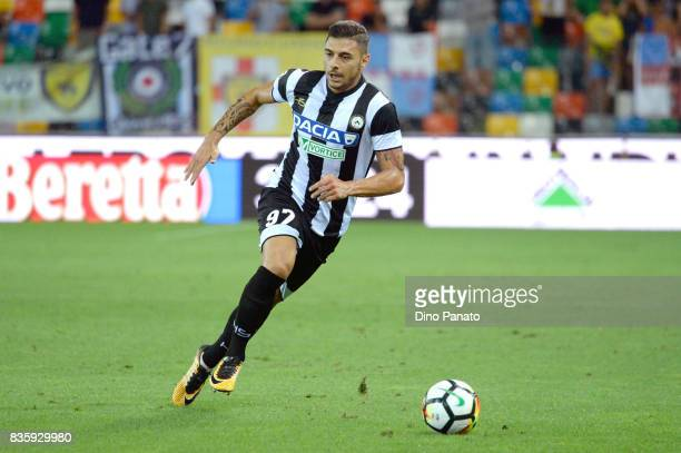 Giuseppe Pezzella of Udinese Calcio l in action during the Serie A match between Udinese Calcio and AC Chievo Verona at Friuli Stadium on August 20...