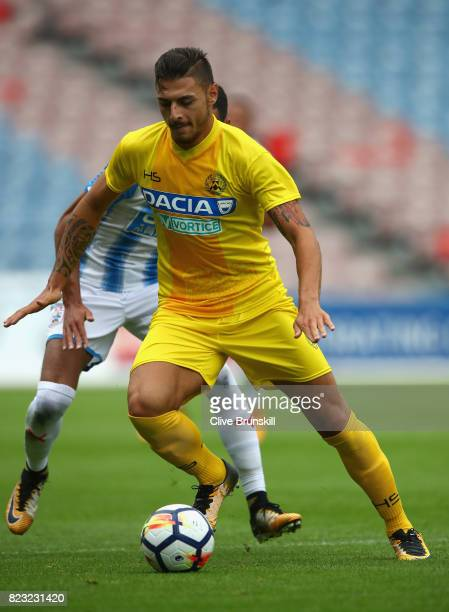 Giuseppe Pezzella of Udinese in action during the pre season friendly match between Huddersfield Town and Udinese at Galpharm Stadium on July 26 2017...