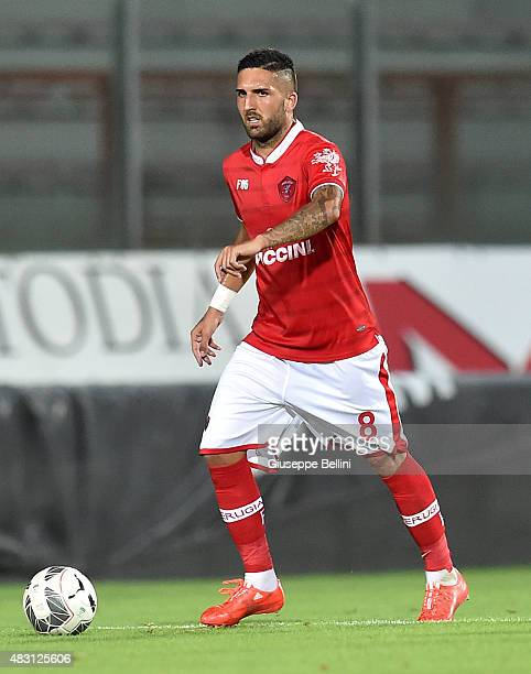 Giuseppe Rizzo of Perugia in action during the preseason friendly match between AC Perugia and Carpi FC at Stadio Renato Curi on August 1 2015 in...