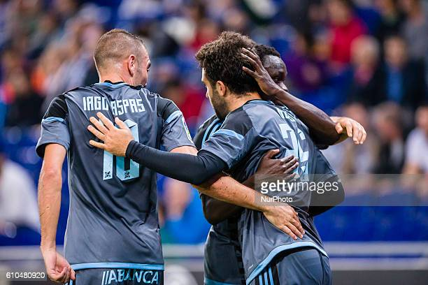 Giuseppe Rossi celebrating the first goal of the match for Celta during the RCD Espanyol vs Real Club Celta de Vigo of La Liga played at the RCDE...