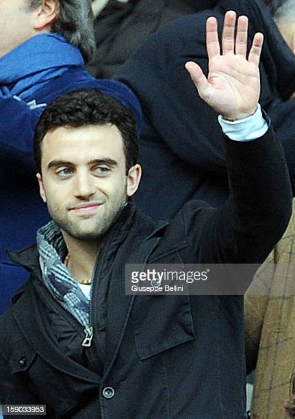 Giuseppe Rossi new player of Fiorentina before the Serie A match between ACF Fiorentina and Pescara at Stadio Artemio Franchi on January 6 2013 in...